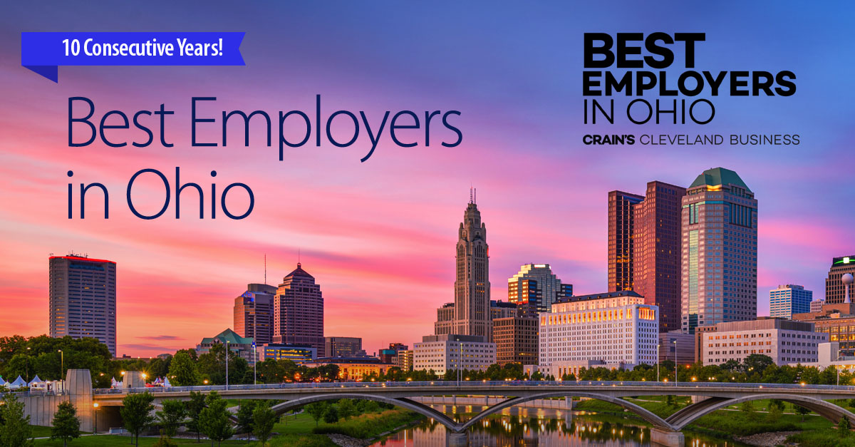 Ryan Named One of the Best Employers in Ohio for Tenth Consecutive Year