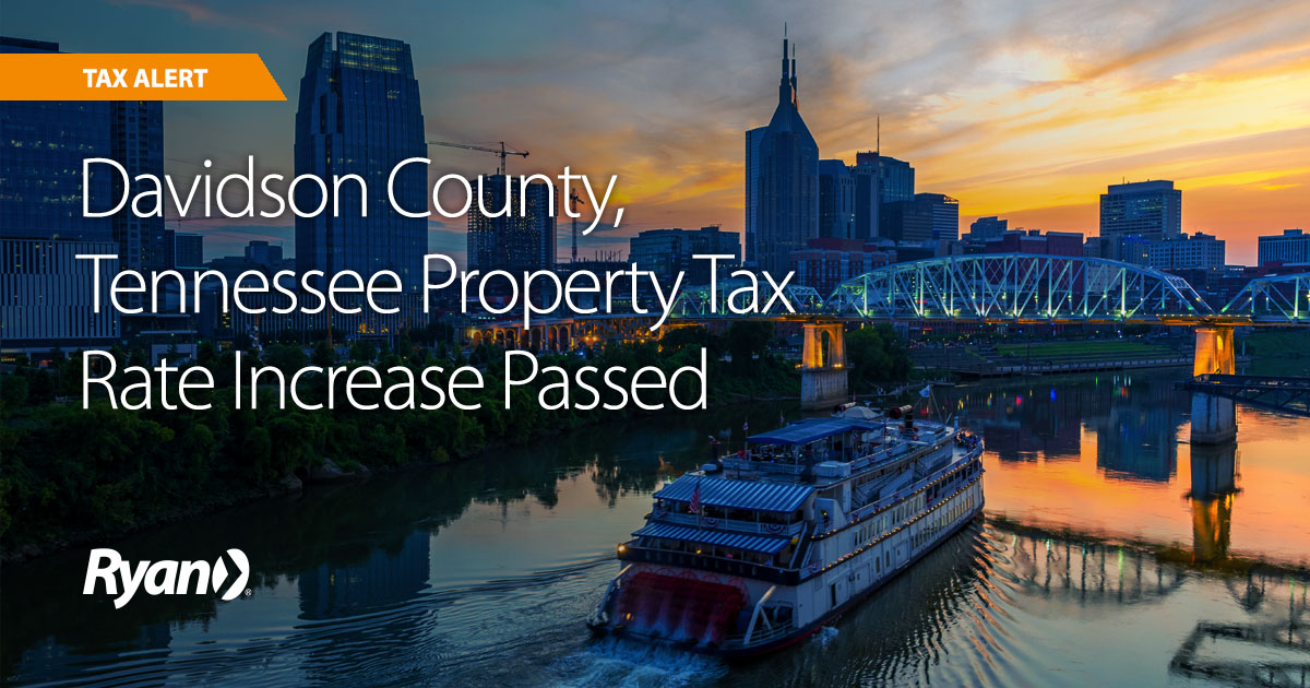 Davidson County, Tennessee Property Tax Rate Increase Passed