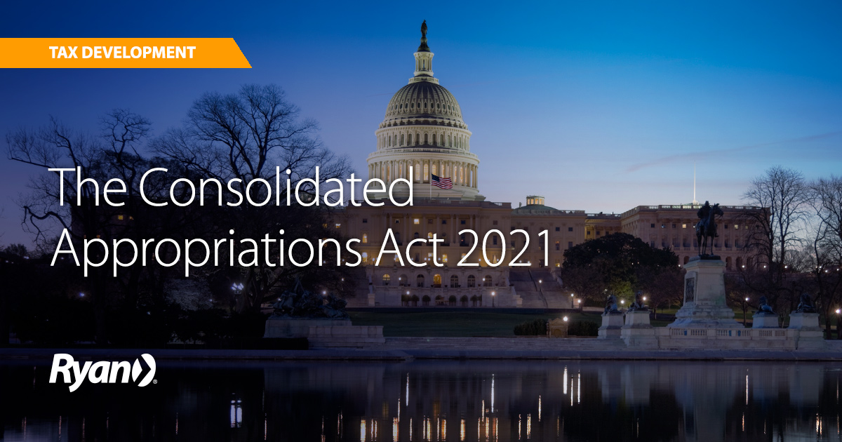 The Consolidated Appropriations Act 2021