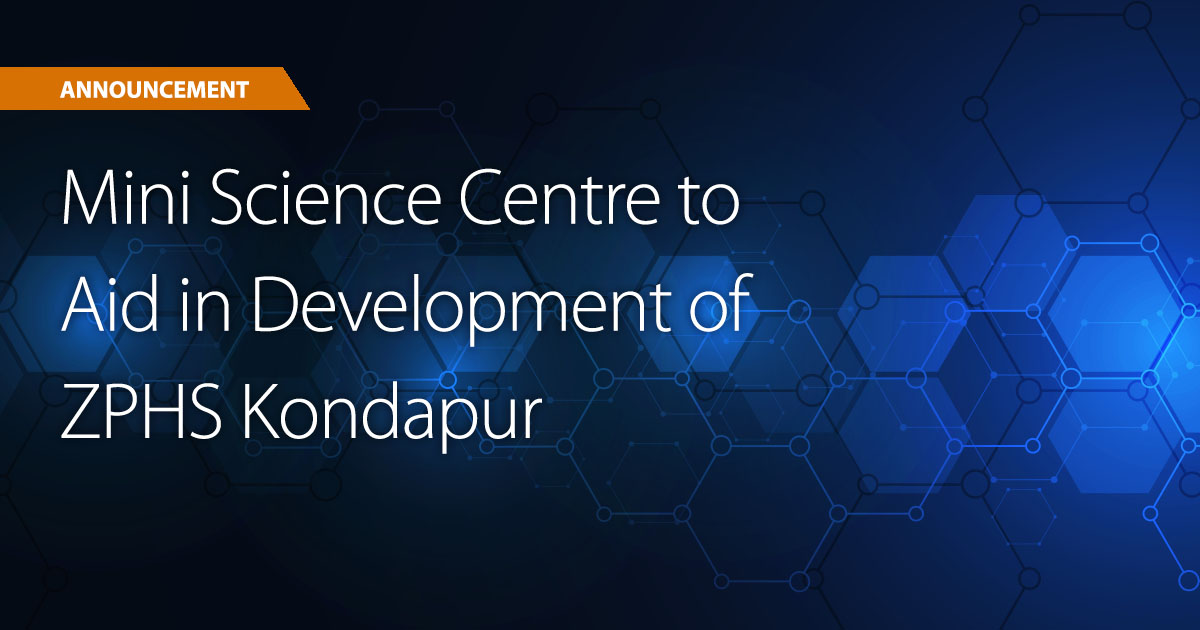 Ryan Launches Mini Science Centre to Aid in Development of ZPHS Kondapur
